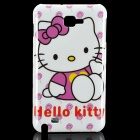 Cute Hello Kitty Pattern Protective PC Back Case for Samsung i9220 - White + Purple