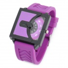 Cool Rubber Band Wrist Watch - Purple (1 x 626)