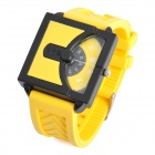 Cool Rubber Band Wrist Watch - Yellow (1 x 626)