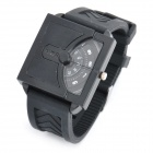 Cool Rubber Band Wrist Watch - Black (1 x 626)