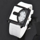 Cool Rubber Band Wrist Watch - White (1 x 626)