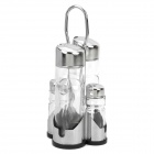 4-in-1 Oil Spices Containers Set - Silver