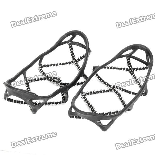 Outdoor Ice Climbing / Mountaineering Shoes Chain Cleat Crampons - Black (Size-M / Pair)