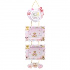 Fashion Cute 2-Picture Bear Style Plastic Hanging Photo Frame - Pink