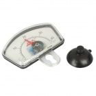 Submersible Waterproof Aquarium Analog Thermometer w/ Suction Cup - Black (0~40'C)