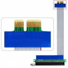 PCI-E 1X Male to Female + PCI-E 1X Male to PCI-E 16X Female Adapter Card Flex Cable