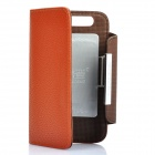 KALAIDENG Protective PU Leather Flip-Open Case for Motorola MOTO XT910 - Brown