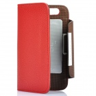 KALAIDENG Protective PU Leather Flip-Open Case for Motorola MOTO XT910 - Red + Coffee