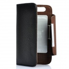 KALAIDENG Protective PU Leather Flip-Open Case for Motorola MOTO XT910 - Black + Coffee