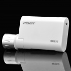 Outdoor 5000mAh External Charger w/ 3-Mode LED Flashlight / iPhone & Mini USB Charging Cable - White