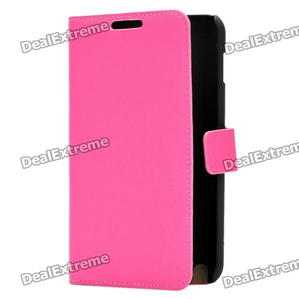 Protective PU Leather Case for Samsung i9220 - Pink