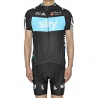 2012 SKY Team Short Sleeves Bicycle Cycling Riding Suit Jersey + Shorts Set (Size-XXL)