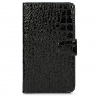 Protective Crocodile Skin Style PU Leather Case for Samsung i9220 - Black