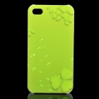 Green Leaves Pattern Protective PC Back Case for Iphone 4 / 4S - Green