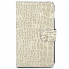 Protective Crocodile Skin Style PU Leather Case for Samsung i9220 - Silver Grey