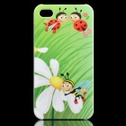 Cute Cartoon Bees Pattern Protective PC Back Case for Iphone 4 / 4S - Green