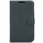 Protective PU Leather + Frame Protection Case Cover for Samsung i9220 - Black