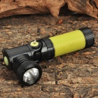 CREE-Q5 3-Mode 310LM White 1-LED Waterproof Flashlight w/ 90 Degree Pivoting Head - Yellow (1x14500)