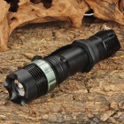 Focus Zoom Lens Cree-Q3 3-Mode 270LM LED Flashlight w/ Charger & Battery- Black (1x18650)