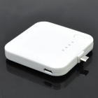 Micro USB Rechargeable 2200mAh Emergency Power Battery - White