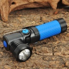 CREE-Q5 3-Mode 310LM White 1-LED Waterproof Flashlight w/ 90 Degree Pivoting Head - Blue (1x14500)