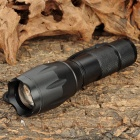 Focus Zoom Lens XM-L T6 5-Mode 900LM White 1-LED Waterproof Flashlight w/ Charger & Strap (1x18650)