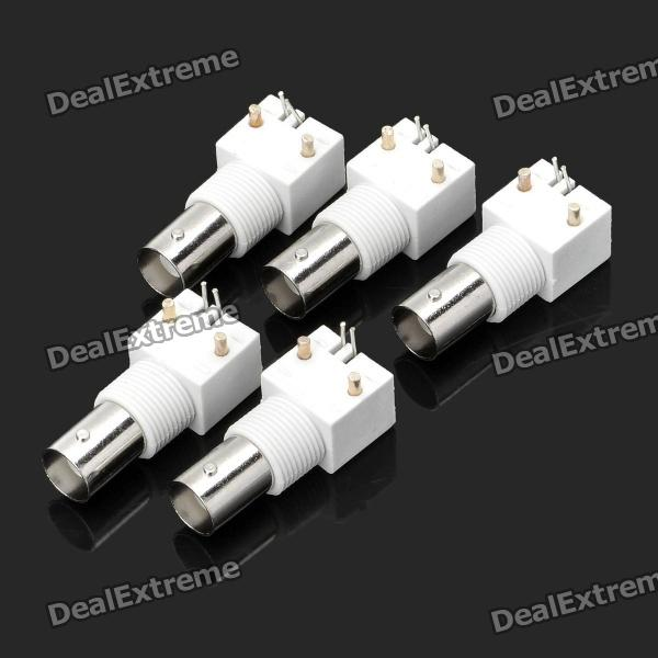 TV BNC Female Plug Adapter Connectors (12V / 5-Piece Pack)