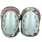 Outdoor War Game War Elbow / Knee Protectors Guards Set - Camouflage Green