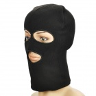 Knitting Wool Face Mask - Black