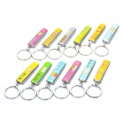 Cute The Signs of The Zodiac Style Nail Clipper w/ Keychain - Random Color (12-Piece Pack)