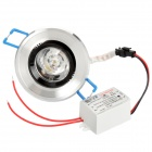 1W 3500K 90-Lumen 1-LED Warm White Light Ceiling Down Lamp w/ Driver (AC 85~265V)