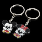 Fashion Zinc Alloy Couple Keychain - Mickey & Minnie Mouse Style (Pair)