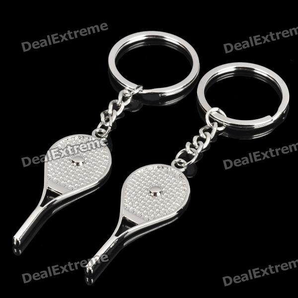 Fashion Zinc Alloy Couple Keychain - Tennis Racket Style (Pair)
