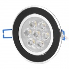 7W 3500K 630-Lumen 7-LED Warm White Light Down Ceiling Lamp w/ Driver (AC 100~245V)