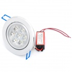 7W 3500K 630-Lumen 7-LED Warm White Light Ceiling Down Lamp w/ Driver (AC 100~245V)