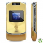 "Refurbished Motorola RAZR V3xx GSM Flip Phone w/ 2.2"" LCD, Tri-Band and Java - Golden"