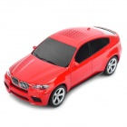 Car Style Bluetooth V2.0 Class 2 MP3 Player Speaker w/ Microphone / TF Slot - Red
