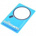3X 42mm Wide Angle Ultra-Thin Card Design Magnifier - Blue
