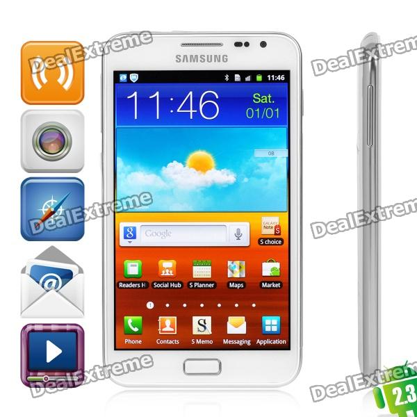 """Samsung Galaxy Note i9220/N7000 Android 2.3 WCDMA Smart Phone w/5.3"""" Capacitive / GPS - White (16GB)"""