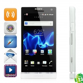 """Sony Xperia S LT26i WCDMA Android 4.0 Smart Phone w/4.3"""" Capacitive, 12 MP Camera and GPS - White"""