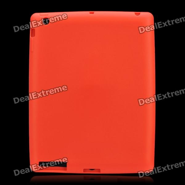 Protective Soft Silicone Case for the New Ipad - Red