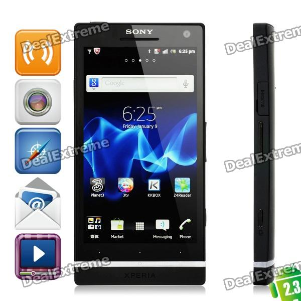 Sony Xperia S LT26i WCDMA Android 2.3 Smart Phone w/4.3 Capacitive, 12 MP Camera and GPS - Black