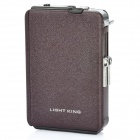 Automatic Ejection Cigarette Case w/ Windproof Butane Jet Torch Lighter - Coffee (Holds 10)