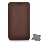 Protective PU Leather Case w/ Plastic Holder for Samsung i9220 - Coffee