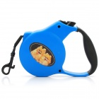 Retractable Leading Dog Leash with Plastic Shell - Blue (3M)