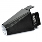 Folding Plastic Reflector Box for Speedlight - White + Black