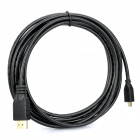 HDMI 1.4 Male to D Type Micro HDMI Male Adapter Cable - Black (300cm)
