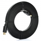 2160P HDMI V1.4 24K Gold Plated Male to Male Flat Connection Cable - Black (500cm)