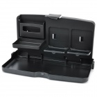 Car Vehicle Travel Dining Table Desk Drinks Cup Holder Food Tray - Black