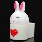 Cute Bunny Style-Light Control LED-Licht-Lampe - Weiss + Pink + Rot (3-Flat-poliger Stecker)